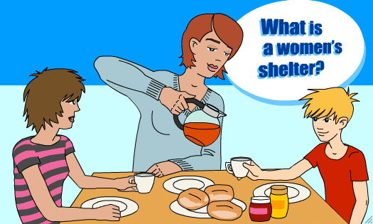 What is a women's shelter?